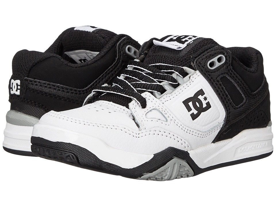 DC Kids - Stag 2 (Little Kid) (White/Black/Armor) Boys Shoes