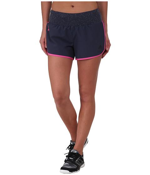 adidas - AKTIV M10 Shorts - Pink Ribbon (Midnight Grey) Women's Workout