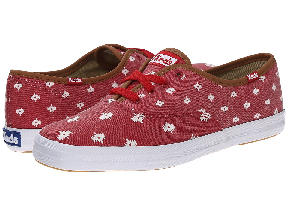 Keds - Champion Native Dot (Chili Red Twill) Women's Lace up casual Shoes