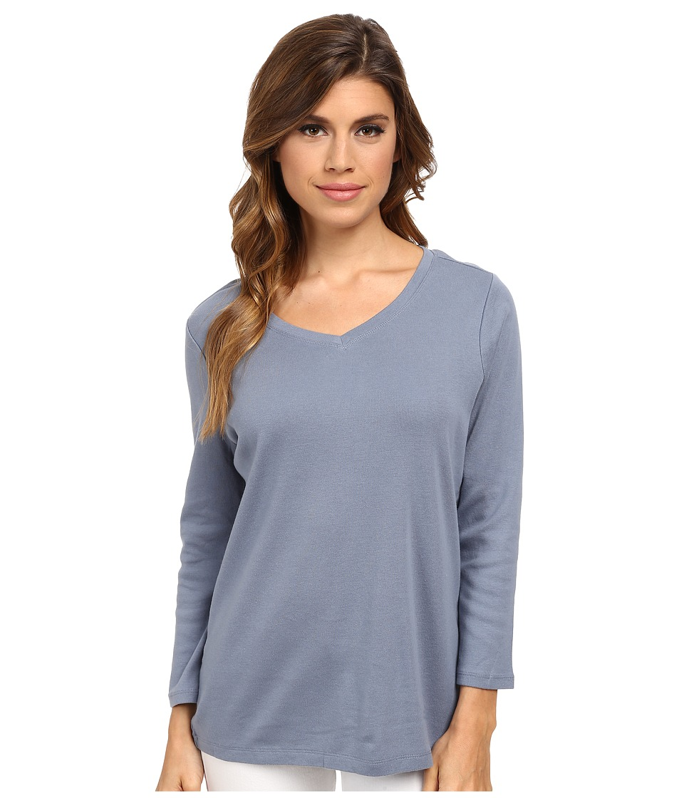 Pendleton - Three-Quarter Sleeve Rib Tee (Blue Ash) Women