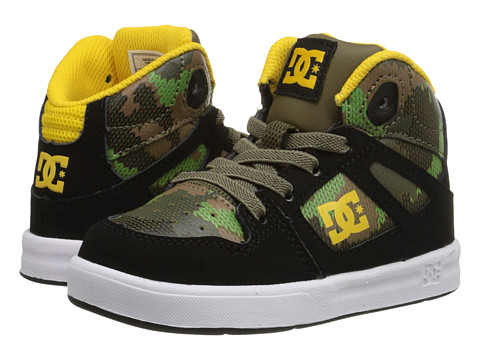 DC Kids - Rebound SE UL (Toddler) (Black Camouflage) Boys Shoes