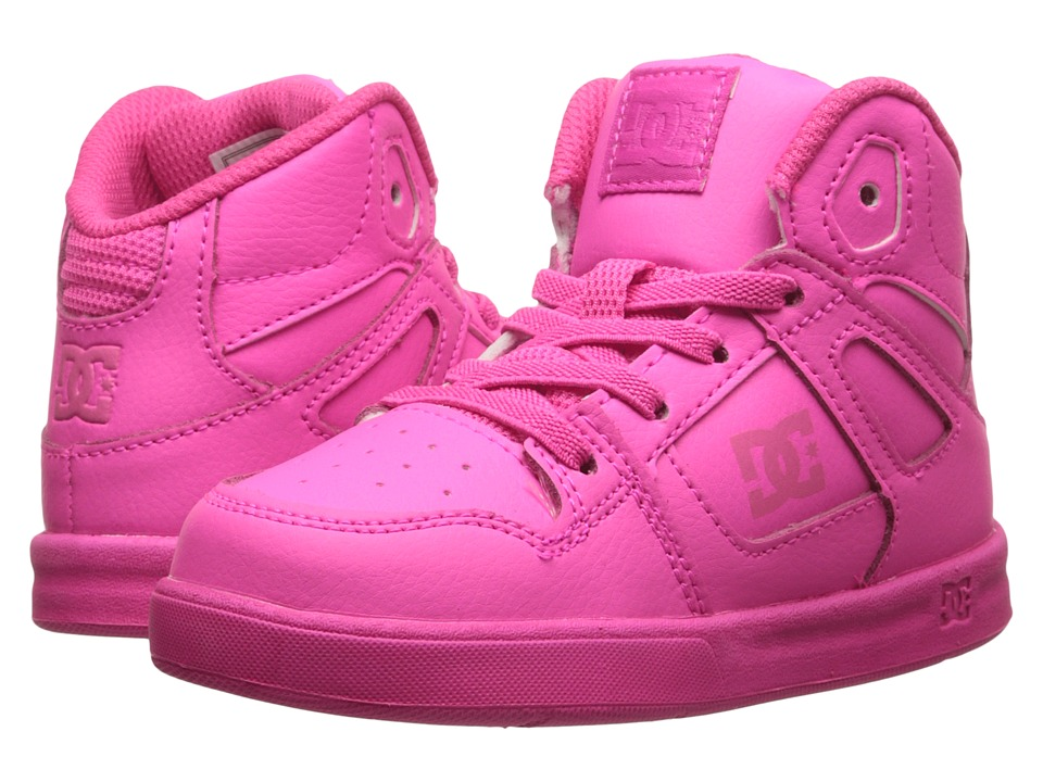 DC Kids - Rebound SE UL (Toddler) (Hot Pink) Girls Shoes