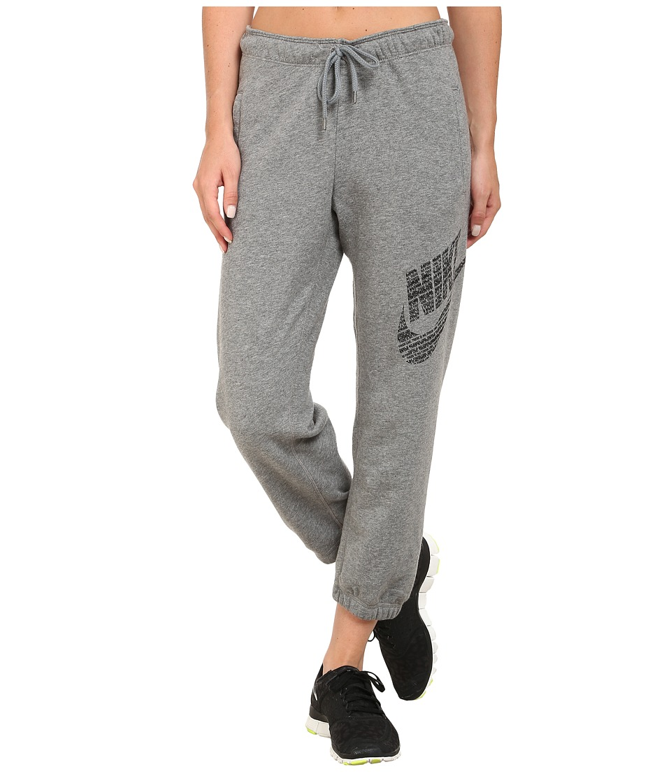 Nike - Rally Logo Capri (Carbon Heather/Cool Grey/Black) Women