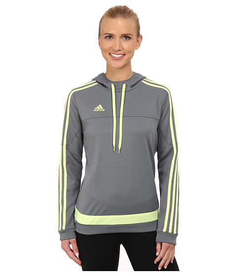 adidas - Tiro Hoodie (Vista Grey/Frozen Yellow) Women's Sweatshirt