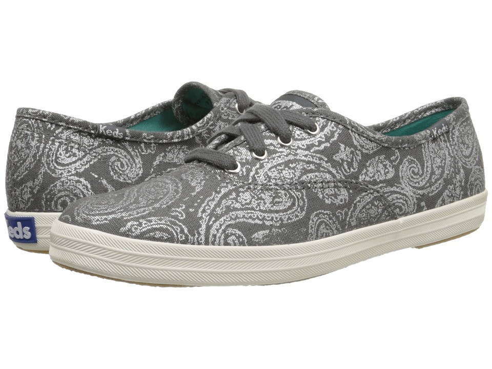 Keds Champion Oversized Paisley (Pewter Woven Textile) Women
