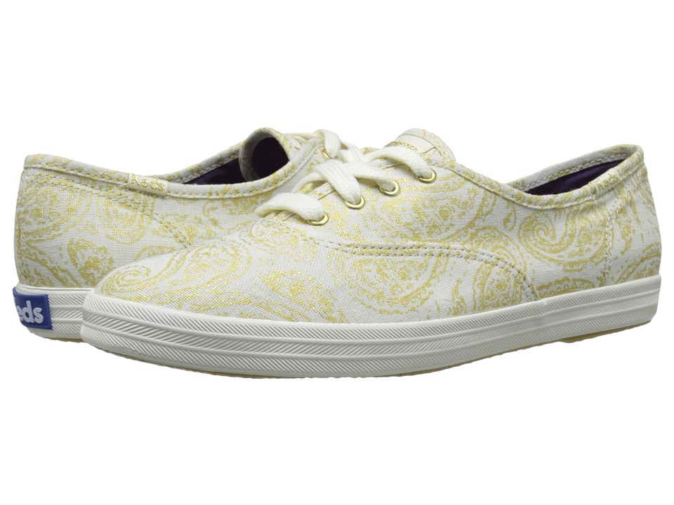 Keds - Champion Oversized Paisley (Gold Woven Textile) Women's Lace up casual Shoes