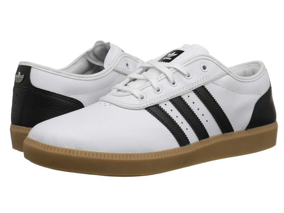 Image of adidas Skateboarding - Adi-Ease Cup (Vintage White/Black/White) Men's Skate Shoes