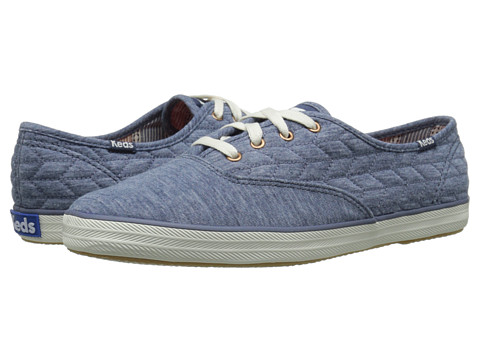 Keds - Champion Quilt Jersey (Blue Quilted Jersey) Women