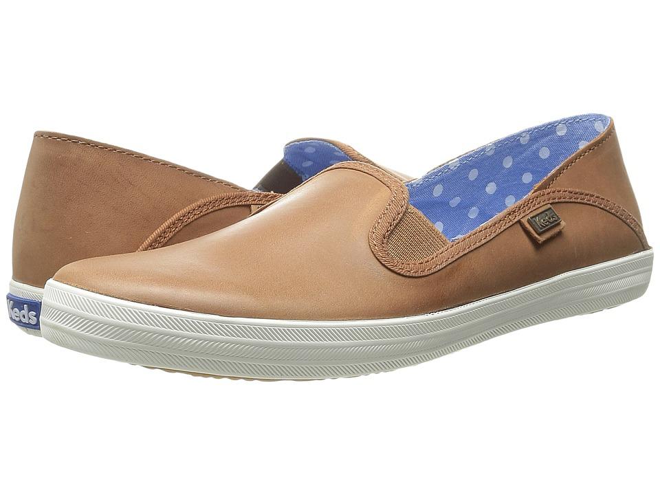 Keds - Crashback Leather (Cognac Leather) Women's Slip on Shoes
