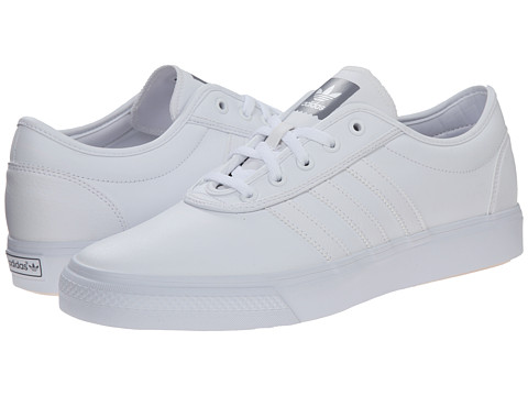 adidas Skateboarding - Adi-Ease (White/White/Grey) Men's Skate Shoes