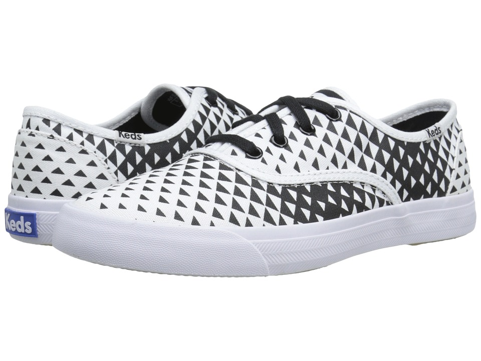Keds - Triumph Triangle (White/Black Canvas) Women's Lace up casual Shoes