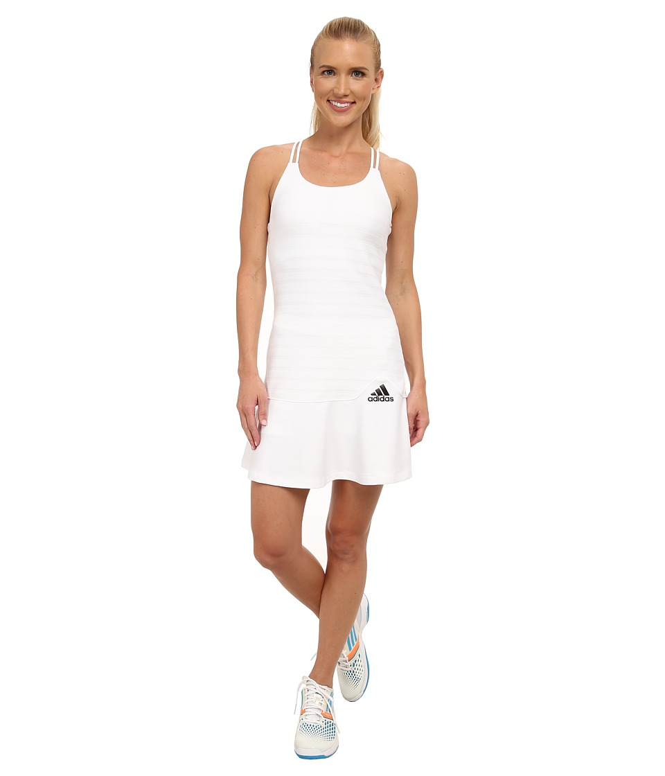 adidas - All Premium Dress (White/Black) Women's Dress