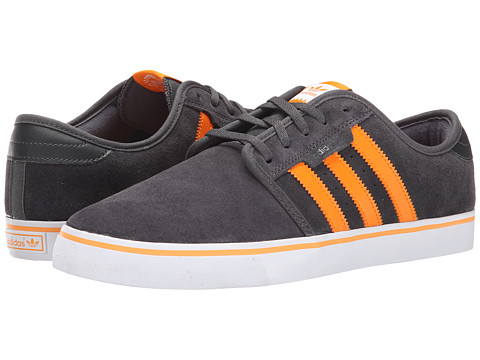 adidas Skateboarding - Seeley (Grey/Bright Orange/White) Men's Skate Shoes