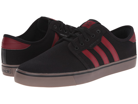 adidas Skateboarding - Seeley (Black/Burgundy/Gum) Men's Skate Shoes