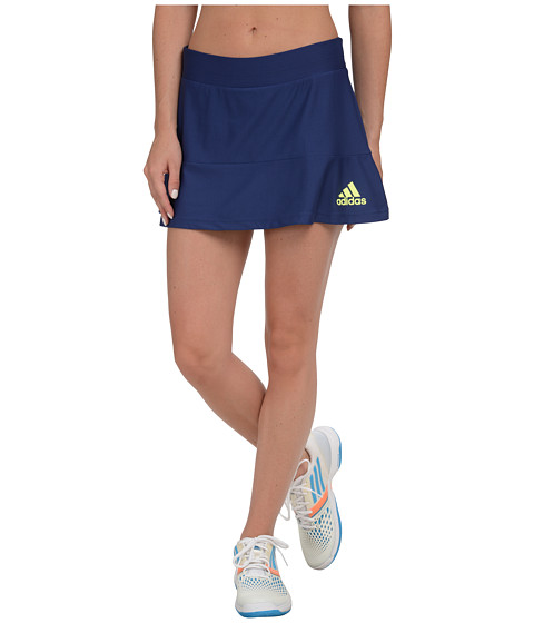 adidas - All Premium Skort (Midnight Indigo/Frozen Yellow) Women