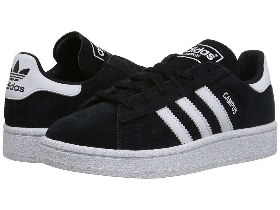 adidas Originals Kids - Campus J (Big Kid) (Black/White/Black) Boys Shoes