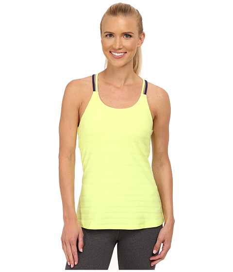 adidas - All Premium Strappy Tank (Frozen Yellow/Midnight) Women's Sleeveless