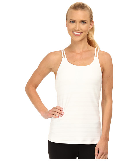 adidas - All Premium Strappy Tank (White/Black) Women's Sleeveless