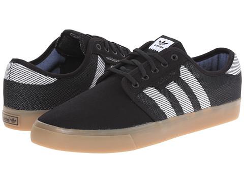 adidas Skateboarding - Seeley Woven (Black/White/Gum) Men