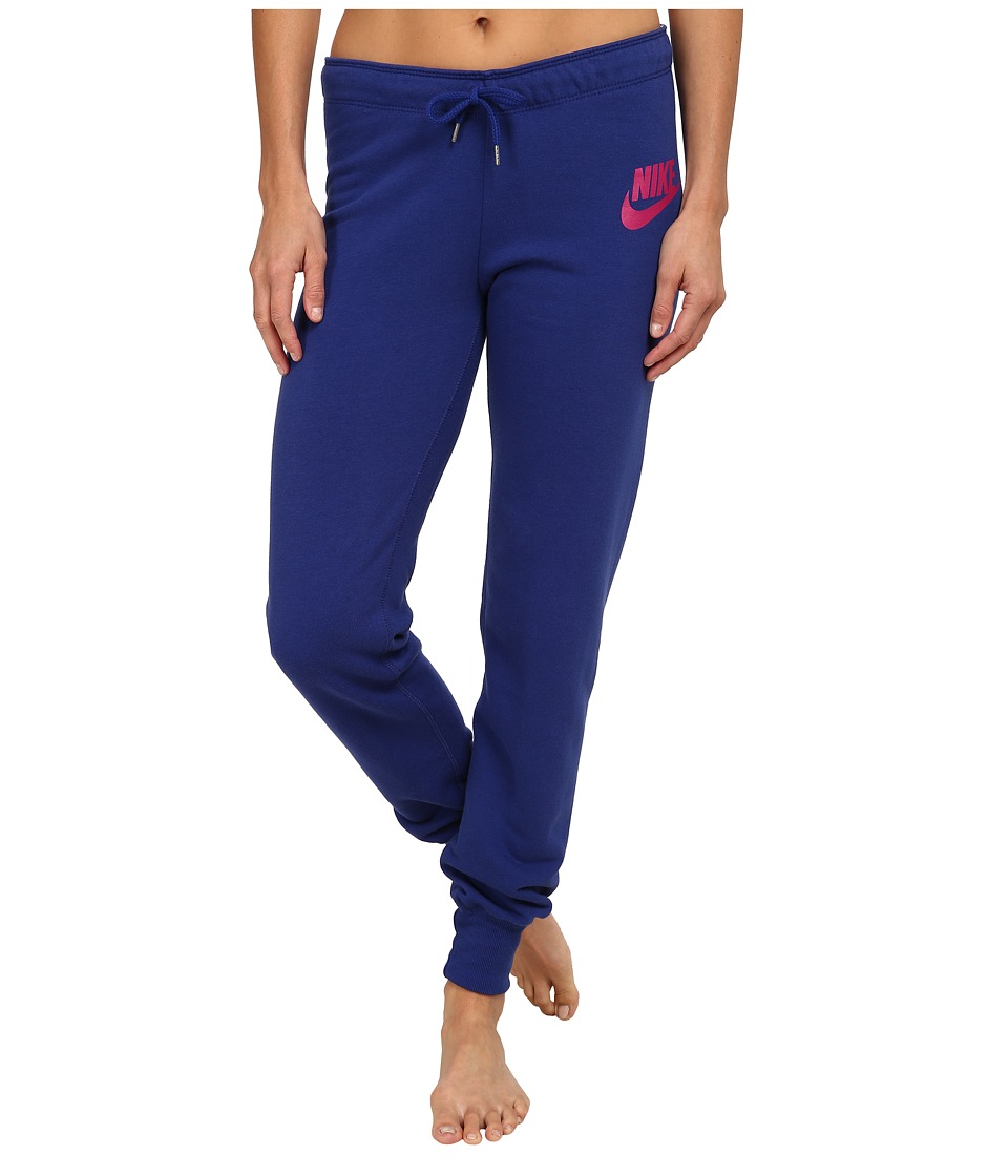 Nike - Rally Tight Pant (Deep Royal Blue/Deep Royal Blue/Sport Fuchsia) Women's Casual Pants