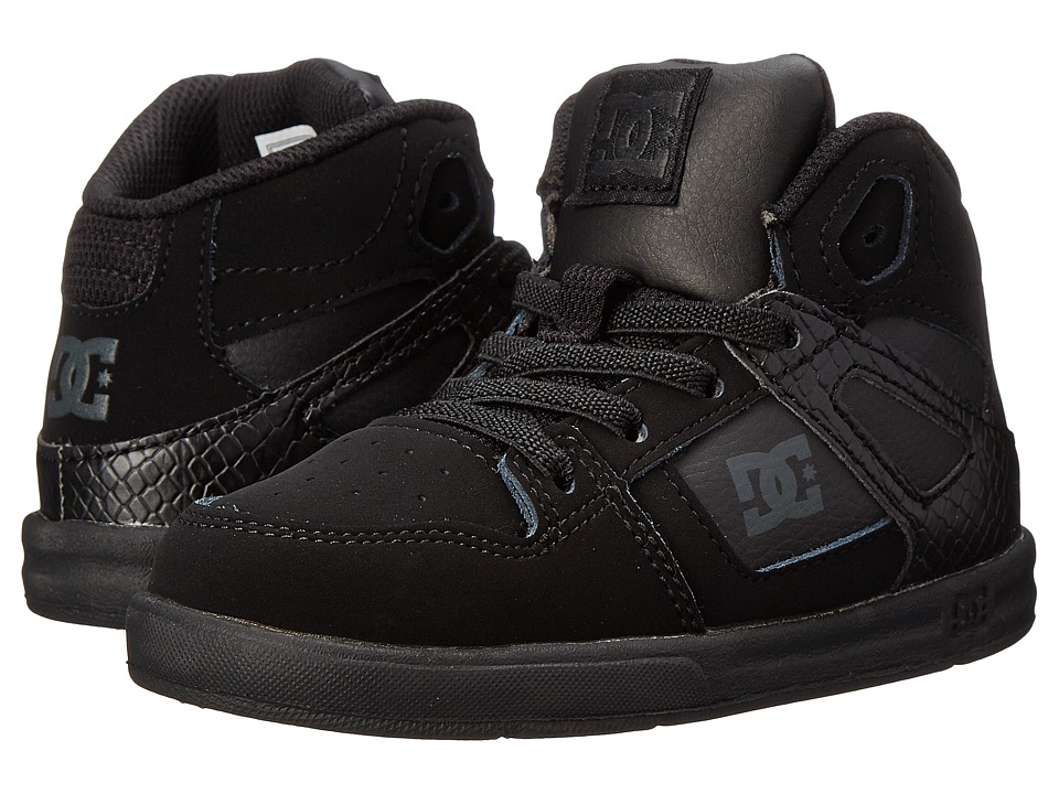 DC Kids - Rebound UL (Toddler) (Black/Black/Black) Boys Shoes
