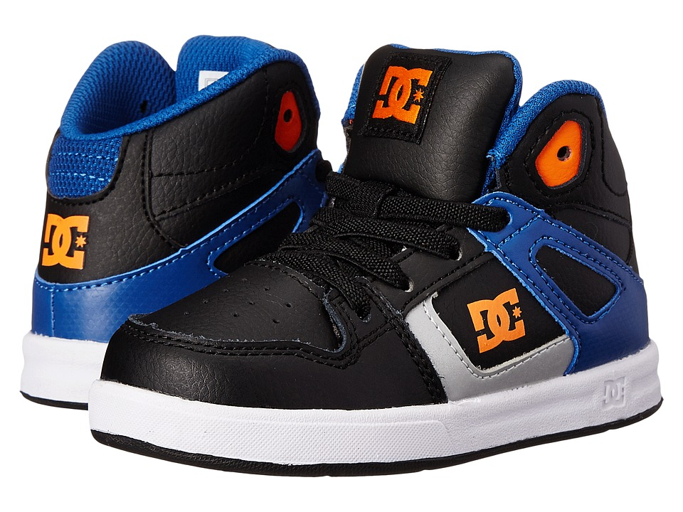 DC Kids - Rebound UL (Toddler) (Blue/Black/White) Boys Shoes