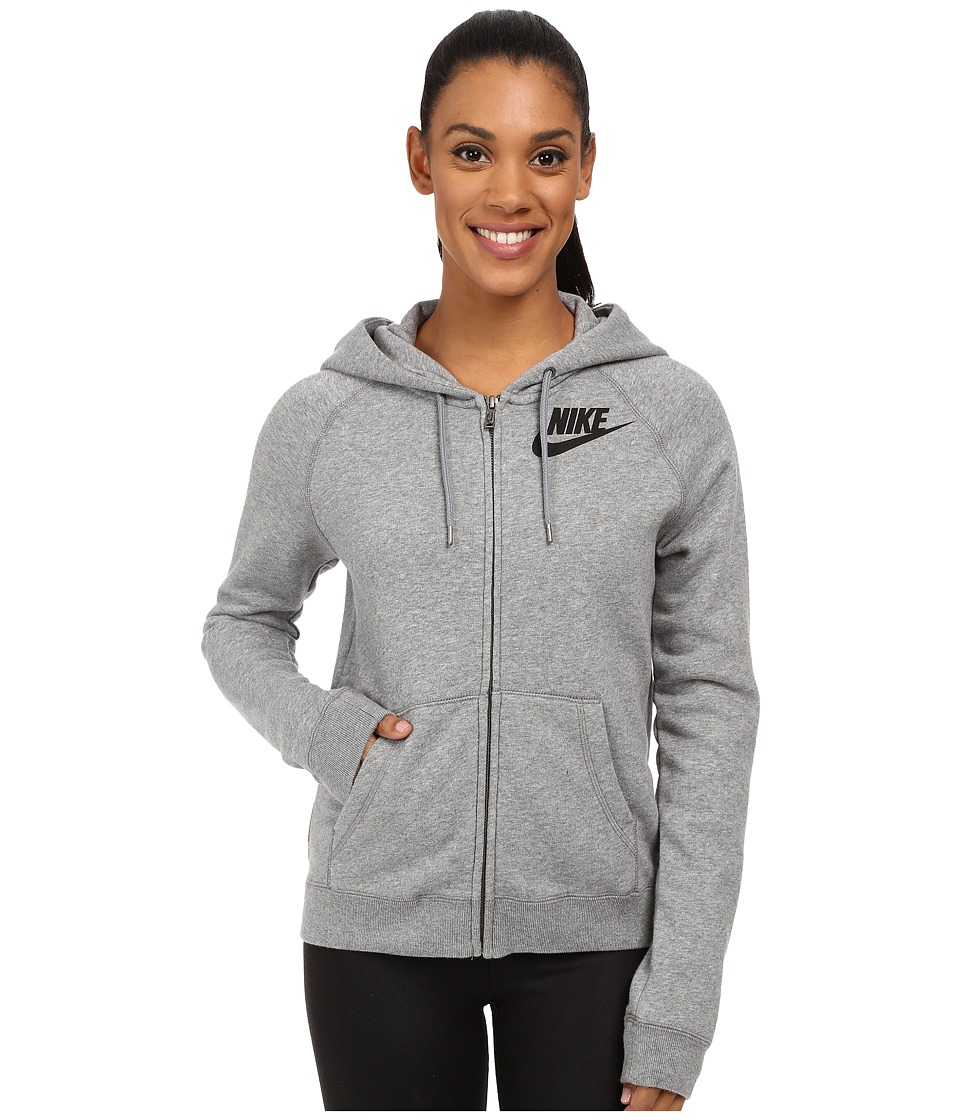 Nike - Rally Full-Zip Hoodie (Carbon Heather/Cool Grey/Black) Women's Sweatshirt