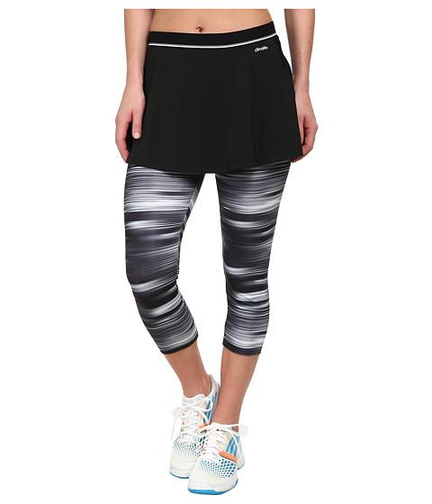 adidas - Response Skort Leggings (Black/White) Women's Skort