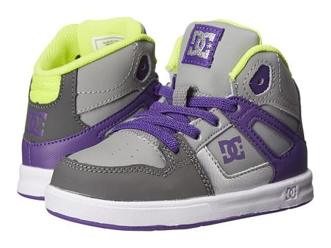 DC Kids - Rebound UL (Toddler) (Battleship/Purple) Girls Shoes