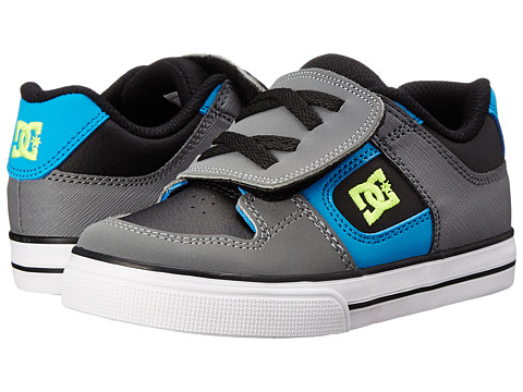DC Kids - Pure V (Toddler) (Black/Armor/Turquoise) Boys Shoes