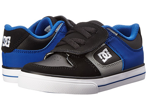 DC Kids - Pure V (Toddler) (Black/Black/Heritage Blue) Boys Shoes