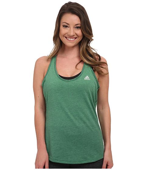 adidas - Aeroknit Tank (Flash Lime Heather/Midnight Indigo) Women's Sleeveless