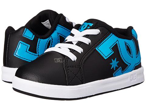 DC Kids - Court Graffik Elastic UL (Toddler) (Black/Ocean/White) Boys Shoes