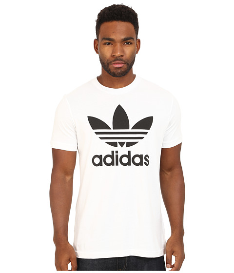 adidas Originals - Originals Trefoil Tee (White/Black) Men's T Shirt