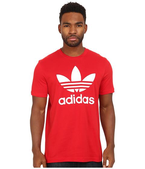 adidas Originals - Originals Trefoil Tee (Scarlet/White) Men
