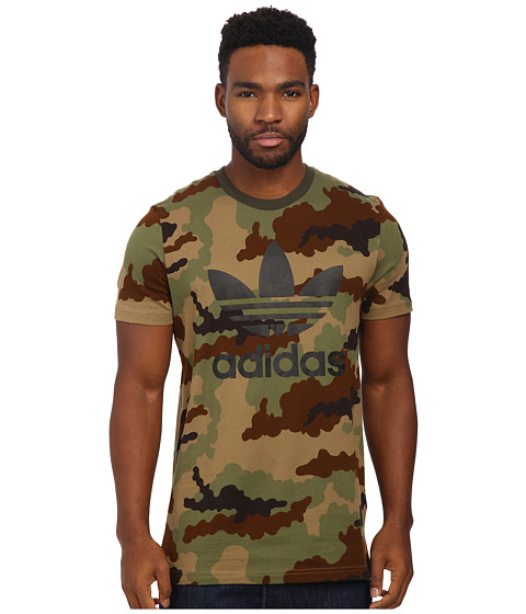adidas Originals - Originals Trefoil Tee (Hemp Camo Print/Black) Men's T Shirt