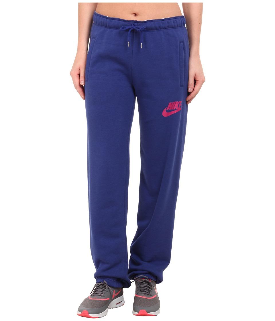 Nike - Rally Loose Pant (Deep Royal Blue/Deep Royal Blue/Sport Fuchsia) Women