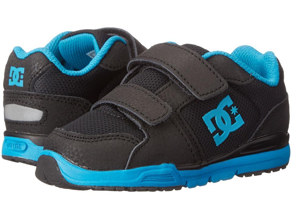 DC Kids - Forter V (Toddler) (Black/Hawaiian Ocean) Boys Shoes