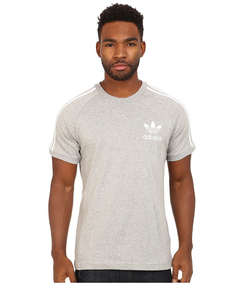adidas Originals - Sport Essentials Tee (Medium Grey Heather/White) Men