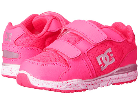 DC Kids - Forter V (Toddler) (Fluorescent Pink/White) Girls Shoes