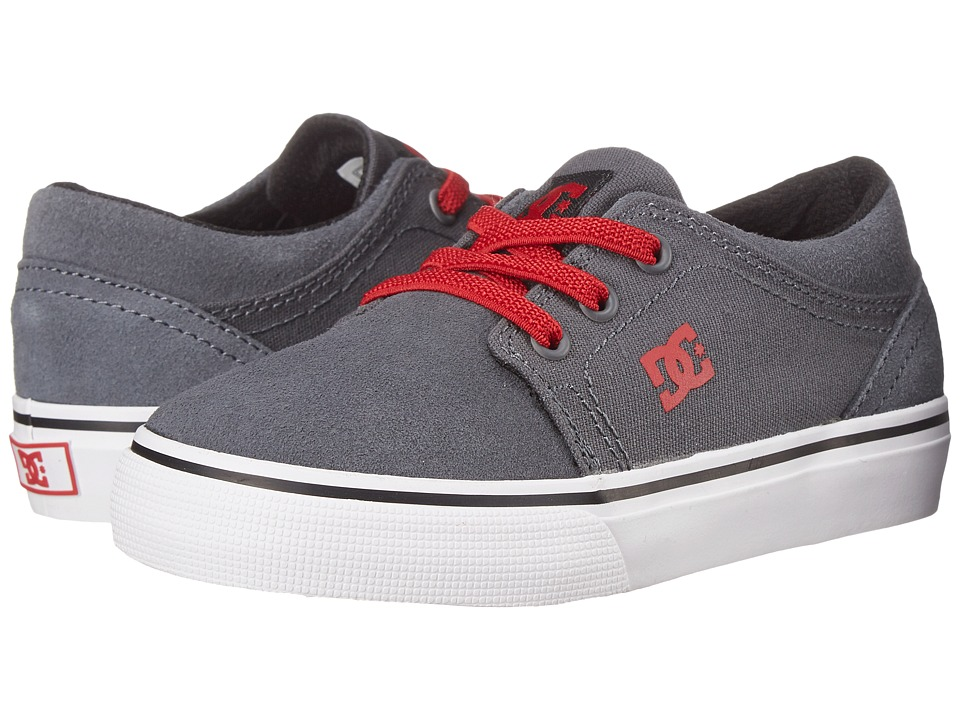 DC Kids - Trase Slip (Toddler) (Grey/Black/Red) Girls Shoes