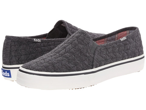 Keds - Double Decker Quilted Jersey (Charcoal) Women