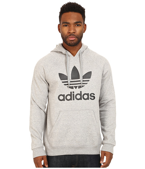 adidas Originals - Originals Trefoil Hoodie (Medium Grey Heather/Black) Men
