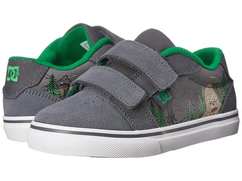 DC Kids - Anvil V SE (Toddler) (Grey/Grey/Green) Boys Shoes