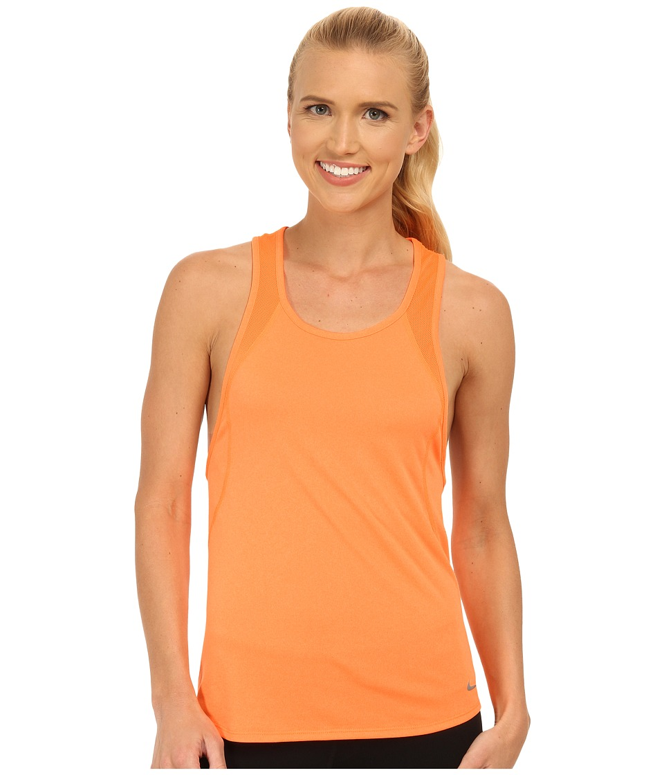 Nike - Dri-FIT Crew Tank Top (Bright Citrus/Bright Citrus/Reflective Silver) Women