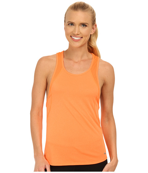 Nike - Dri-FIT Crew Tank Top (Bright Citrus/Bright Citrus/Reflective Silver) Women's Sleeveless