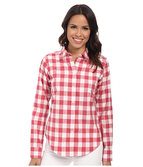 Pendleton - Classic Shirt (Cherry Pink/White Check Shirting) Women's Long Sleeve Button Up