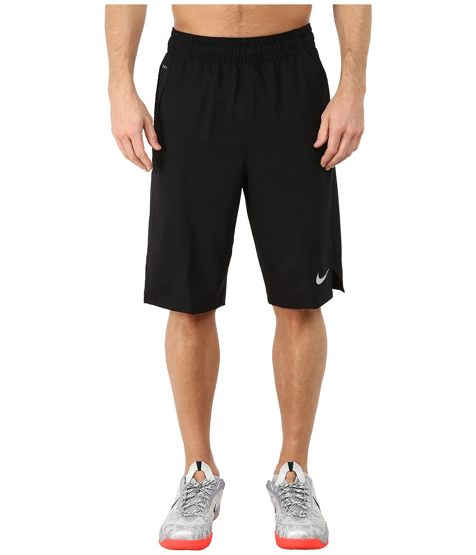 Nike - Hyperelite Quick Shorts (Black/Black/Black/Metallic Silver) Men