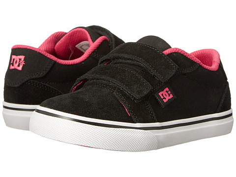 DC Kids - Anvil V (Toddler) (Black/Crazy Pink) Girls Shoes