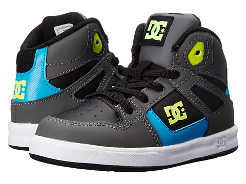 DC Kids - Rebound UL (Toddler) (Black/Armor/Turquoise) Boys Shoes